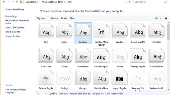 Uninstalls fonts